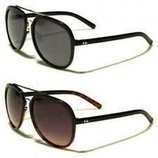 Mens Womens Retro Vintage Aviator Black UV400 Sunglasses 3012 New