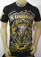 NWT THROWDOWN by AFFLICTION mens COYOTE ss V-NECK MMA t-shirt T0754 *S-2XL