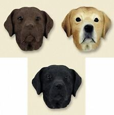 Collectible LABRADOR RETRIEVER ~ Hand Painted Cast Stone Resin MAGNET ~ 3 Colors