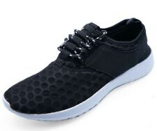 LADIES BLACK LACE-UP RUNNING TRAINERS SPORTS PUMPS PLIMSOLLS WALKING SHOES 3-8