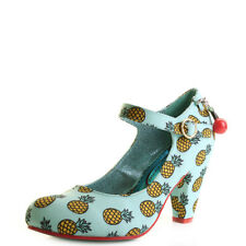 Poetic Licence By Irregular Choice Right Stripes Blue Yellow Heels Shoes Sz Size