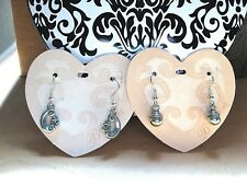 Brighton LOT OF 2 SILVER DROP Earrings on French Wires! NEW With Tin~Great GIFT!