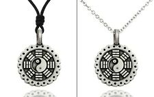 Yin Yang Feng Shui Silver Pewter Necklace Pendant Jewelry