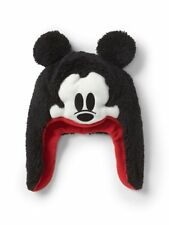 Baby Gap NWT Disney Mickey Mouse Black Plush Trapper Hat XS/S $30
