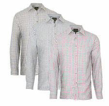 3 Pack Of Mens Champion Salisbury Country Style Casual Check Long Sleeved Shirt