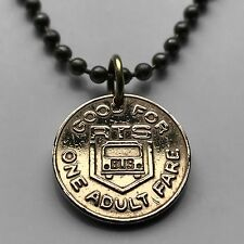 County of Monroe RTS Rochester NY Bus token coin pendant One Adult Fare n002089