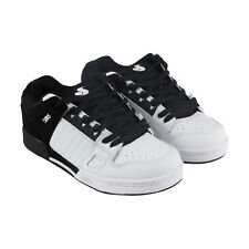 DVS Celsius Mens White Black Leather Lace Up Skate Shoes