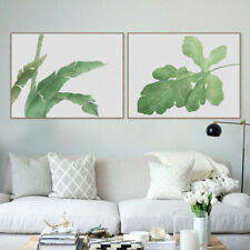 Minimalism Green Plants Canvas Print Oil Painting Unframe Picture Wall Art S M L