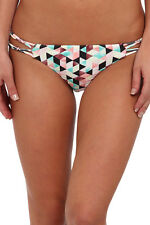 Hurley Swim Prism Strap Triangle Diamond Argyle Cheeky Neon Summer Bikini Bottom