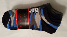 Mens Pack of 10 No Show Socks-Shoe Size-6-12