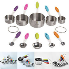 Lot 5/10Pcs/Set Stainless Steel Measuring Spoon Set Measuring Cups Baking Cup