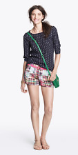 J.CREW Green Cherry PLAID Coral Solid POLKADOT Khaki Chino Mini SHORTS Size 8 10