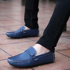 Hot Mens buckle soft Round Toe Boat Driving Moccasin slip on Loafer Casual Shoes