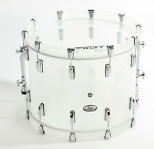 """Pearl CRB2216BX/C733 Crystal Beat 22"""" X 16"""" Bass Drum - Frost Acrylic Finish"""