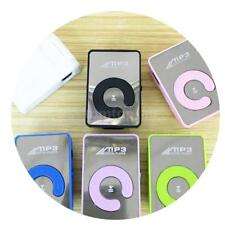 Hot Mirror Clip USB Digital Mp3 Music Media Player Support 1-8GB SD TF Card N7J9