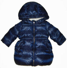 Baby Gap NWT Navy Down Girly Warmest Hood Long Puffer Coat 12-18 Months