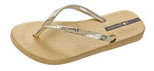 Womens Ipanema Flip Flops Glam Beach Slip On Sandals - Gold - World Shipping