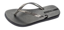 Womens Ipanema Flip Flops Glam Beach Slip On Sandals Graphite - World Shipping