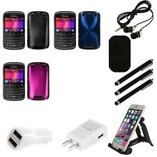For BlackBerry Curve 9350 9360 9370 Aluminum Armor Cosmo Slim Hard Case Combo