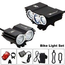 LED Bike Headlight Bicycle Front & Rear Tail Light Set Rechargeable Accessories
