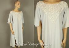 Vtg LUCIE ANN Lavender Terry Lounge Dress Lingerie Long Sweeping Nightgown