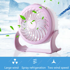 Portable Mini Fan Humidifier Water Misting Spray Cooling USB Home Office Desk