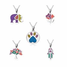 Womens Stainless Steel Elephant Flower Tree Pendant Necklace Chain Jewelry Hot