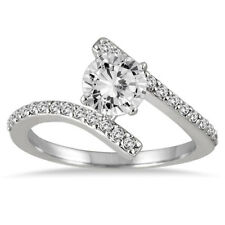 Marquee Jewels 14k White Gold 1ct TDW Round-cut Prong-set Diamond Ring (I-J,