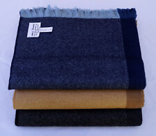 Premium Baby Alpaca and Cashmere Shades of Color Throw Blanket, all Natural