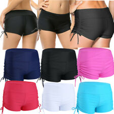 Womens Adjustable Shorts Swim Bikini Swimwear Short Brief Bottoms Boardshorts