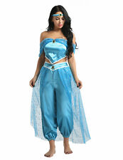 Women Princess Sequins Set Adult Cosplay Costume Halloween Outfit Fancy Dress Up
