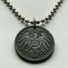 Germany 10 Pfennig coin pendant German eagle Berlin Bavaria Deutschland n001038