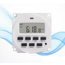 7 Day 16A Heavy Duty Digital Programmable Timer LCD Power Time Control Switch