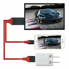 Lightning to HDMI HD TV Adapter 2M Cable Lead for iPhone XS Max XR X 8 7 6 Plus
