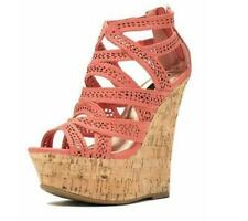 New Roman Womens Suede Sandals Shoes Wedge Platform Open Toe Hollow out Zip Chic