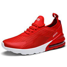 Men's 270 Casual ultralight Air Cushion Mesh Running Shoes Sports Sneakers Red