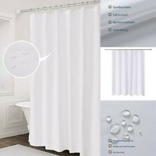 Fabric Shower Curtain Mildew Resistant Washable Water Repellent Spa Bathroom WH