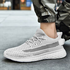 Men's Flyknit Running Shoes Casual Sports Sneakers Jogging Breathable Ultralight