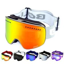 Ski Goggles With Magnetic Double Layer Polarized Lens Skiing Anti-Fog UV400