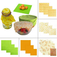 3Pcs Natural Reusable Beeswax Fresh Cloth Food Wraps Food Cover Eco-Friendly