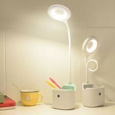 LED Desk Lamp with USB Charging Port Dimmable Table Lamp with Pen Holder