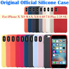 Original Silicone Back Case Cover For Apple iPhone X 8 Plus 7 6 6s 5 5S SE XS XR