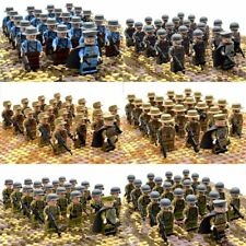 21 Pcs/set Ww2 Military Soldiers Us Britain Italy Japan Army Building Block Toy