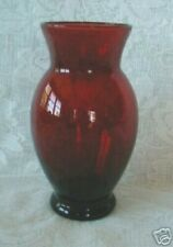 Vintage ANCHOR HOCKING ROYAL Ruby Red Glass Vase - Wedding/Anniversary