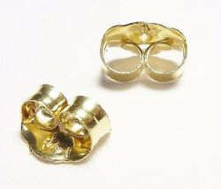 14KT YELLOW GOLD 4MM SMALL REPLACEMENT BACKS PAIR GUARANTEED FREE SHIPPING $11.99