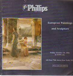 1982 European Paintings and Sculpture-Phillips Catalog $7.75