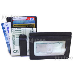 Leather Mens Money Clip Front Pocket Wallet New $19.99