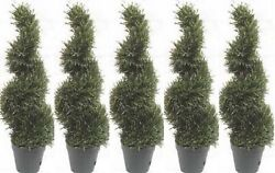 5 ROSEMARY TOPIARY TREE ARTIFICIAL OUTDOOR 4' 2