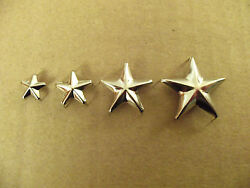 Nickel (Solid Brass) Star Spots  Studs For Leather
