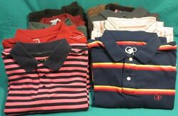 WOW! A Total Of 9 Men's Name Brand Polo's Long Sleeve Shirts & More! Sz-XL